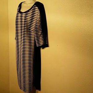 Soho Black White Dress. 2X